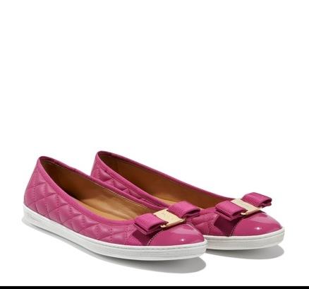 Salvatore Ferragamo pink sneakers (flats)