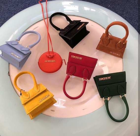 Jacquemus Le Chiquito Suede Mini Bag and Le Pitchou ( orange bag )